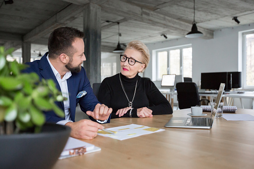 Business People Discussing New Project Stock Photo - Download Image Now