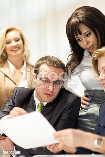 istock Business People Discussing Over Document 536402155