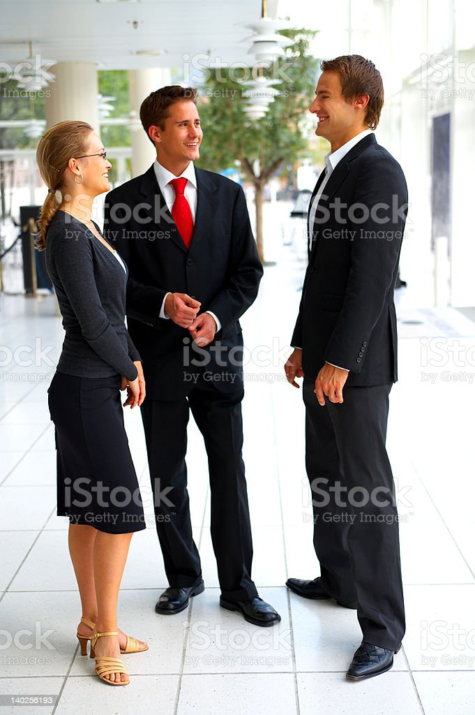 Business people discussing royalty-free stock photo