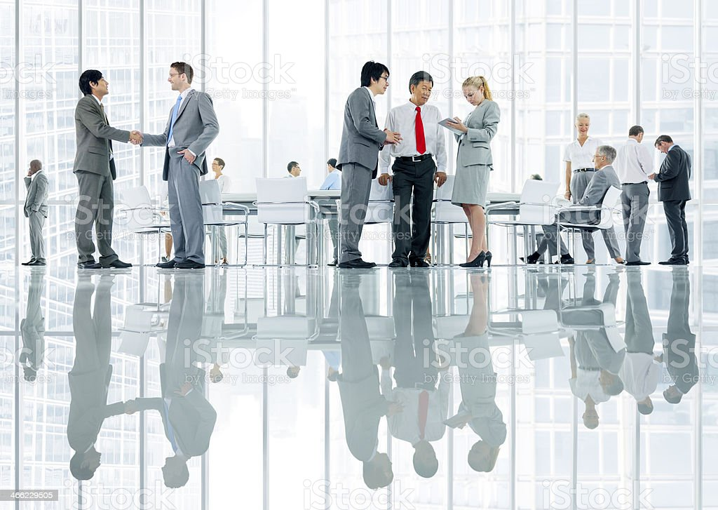 Business people discussing stock photo