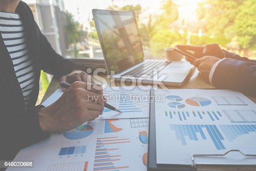 istock Business people discussing the charts 646020668