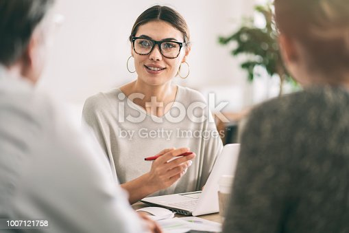 istock Business people discussion advisor concept 1007121758