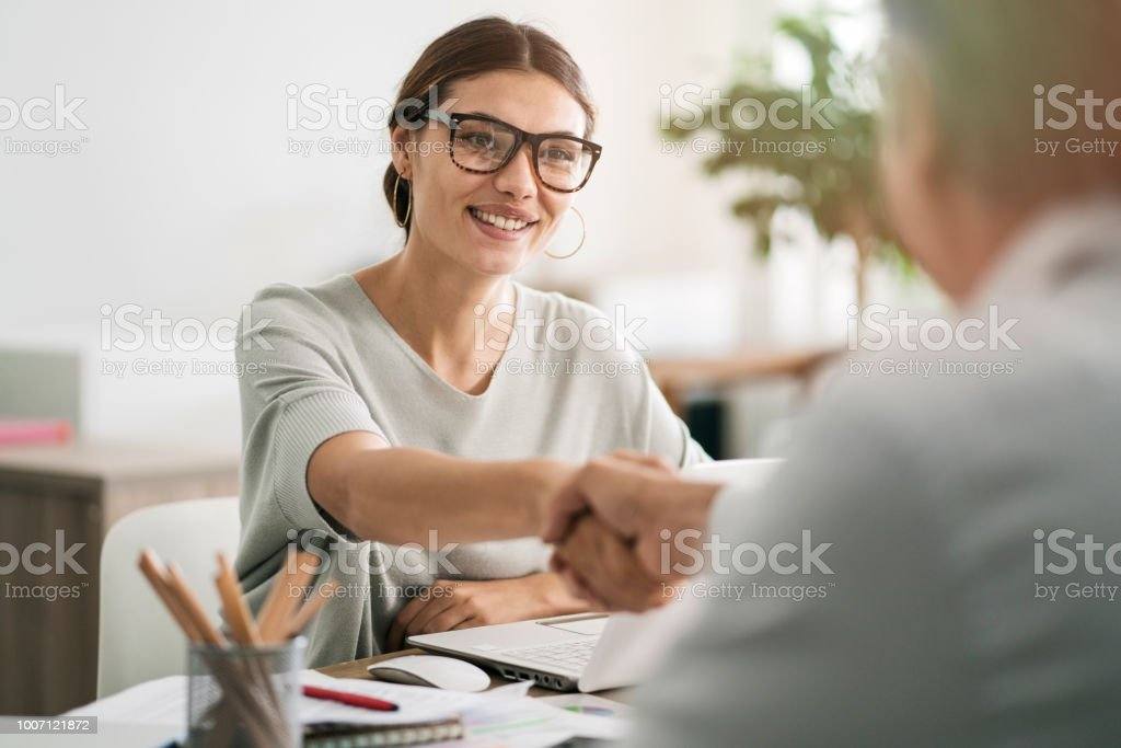 Business people discussion advisor concept royalty-free stock photo