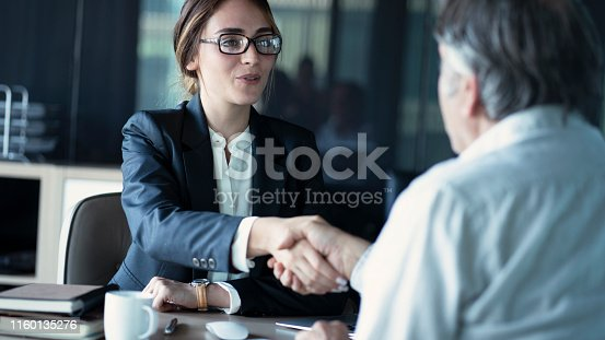 Business people discussion advisor concept