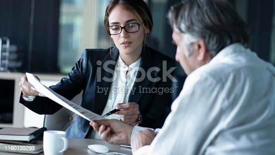 istock Business people discussion advisor concept 1160135293