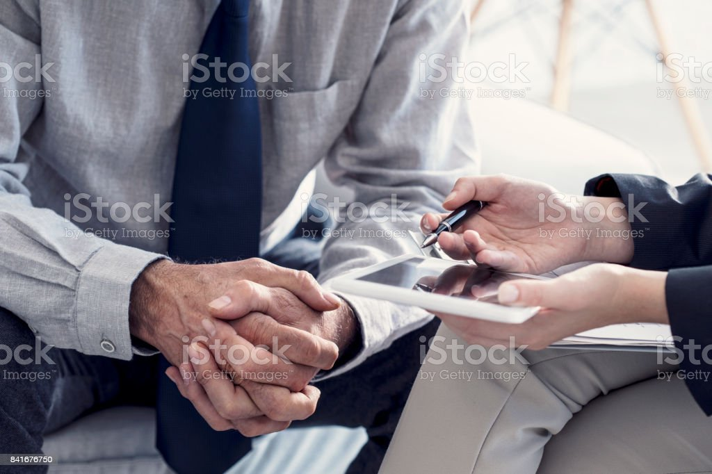 Business people discussion advisor working concept stock photo