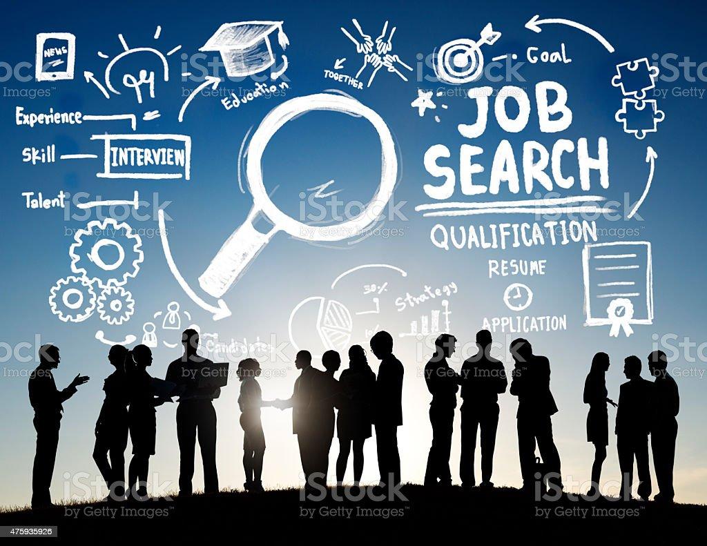 Geschäftsleute diskutieren Ambitionen Job Suche Konzept – Foto