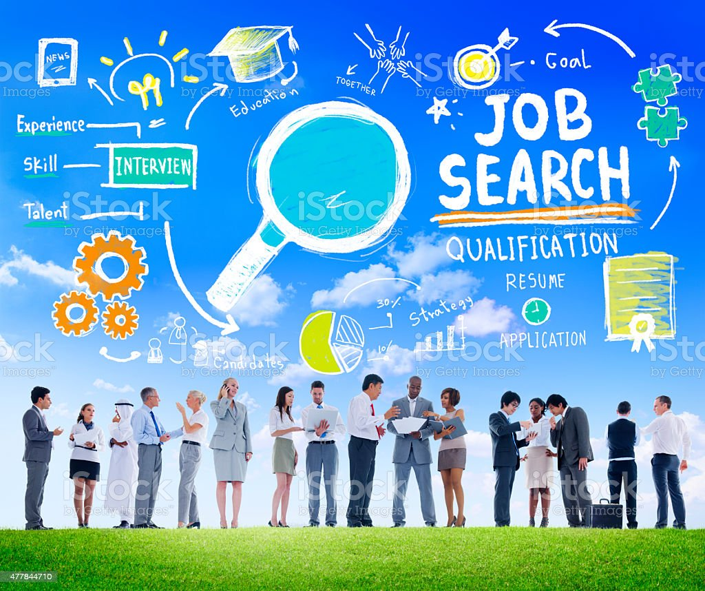 Business People Discussion Aspiration Job Search Concept stock photo