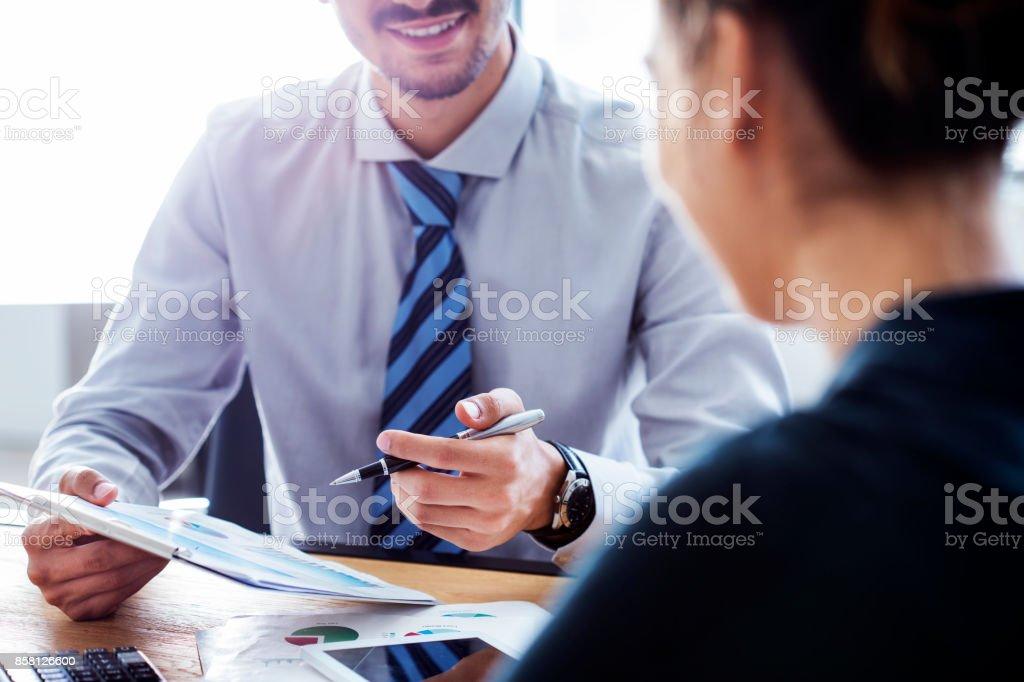 Concept de travail d'entreprise gens discussion - Photo