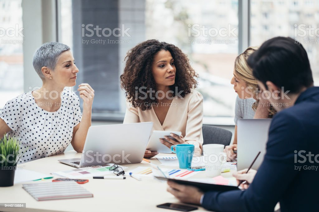Business people discussion working concept stock photo