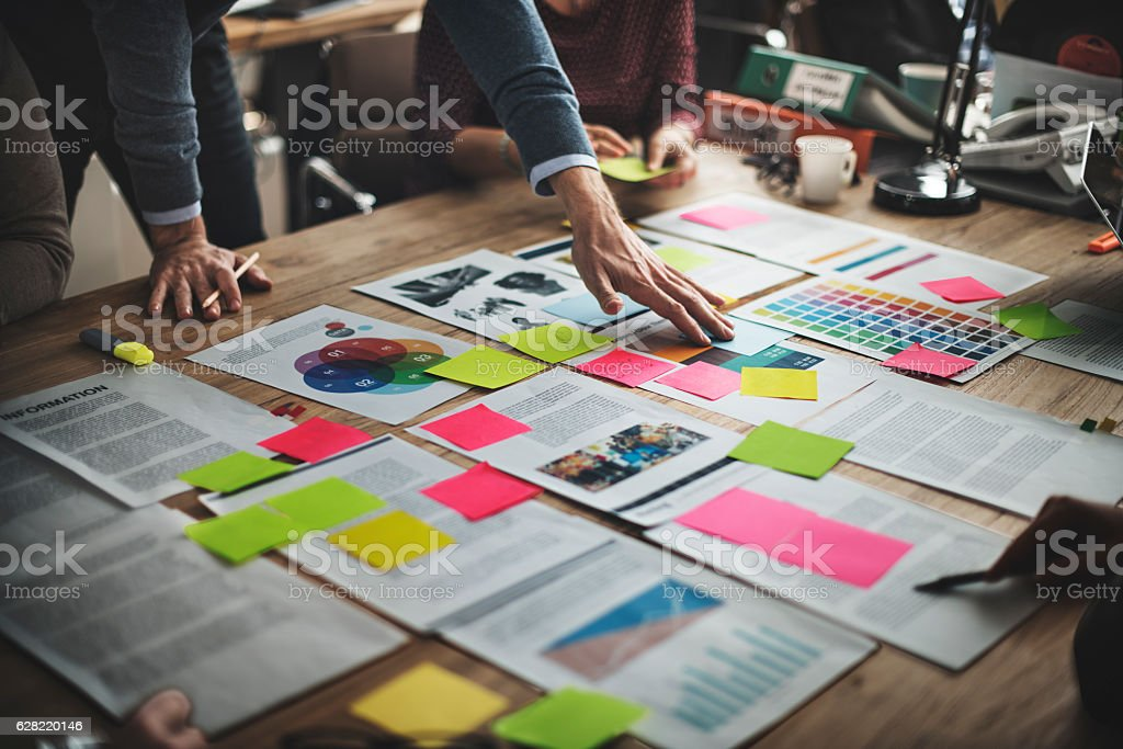 Business People Diverse Brainstorm Meeting Concept stock photo