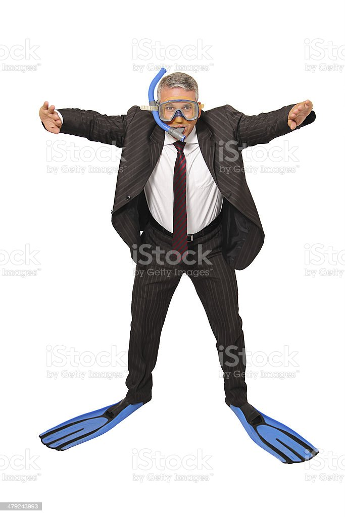 Business people diving stock photo
