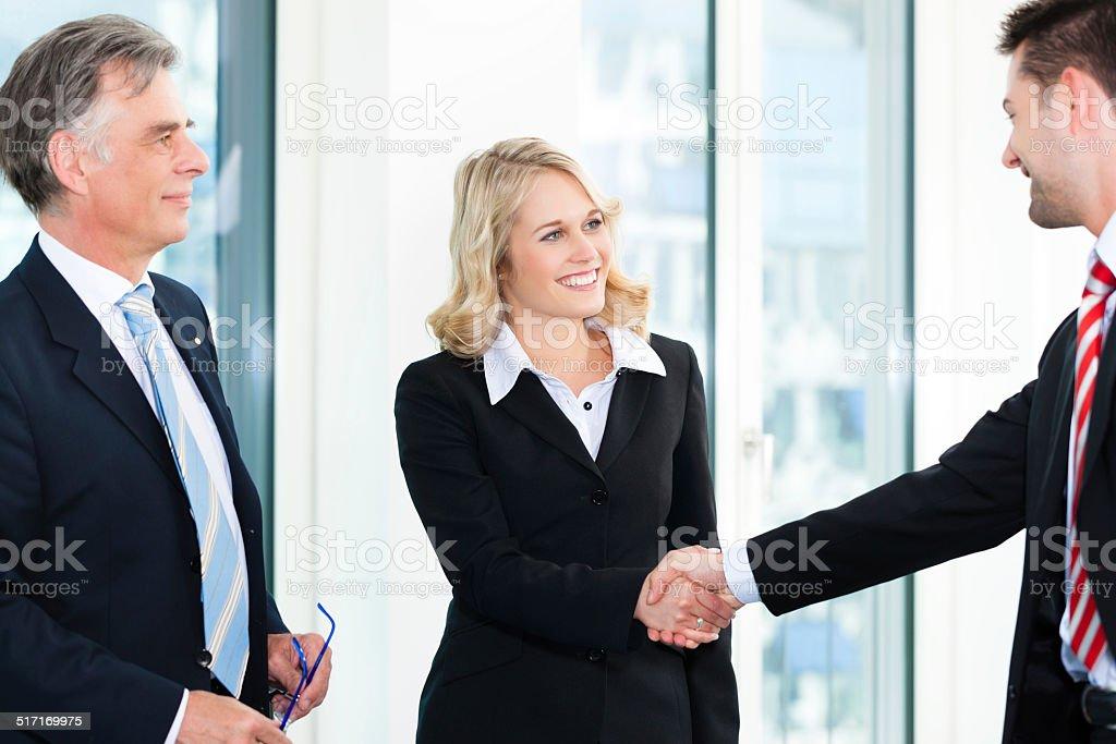 Business people doing Handshake stock photo