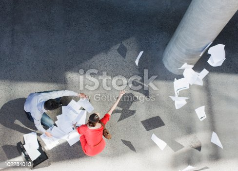 istock Business people dropping paperwork 102284013