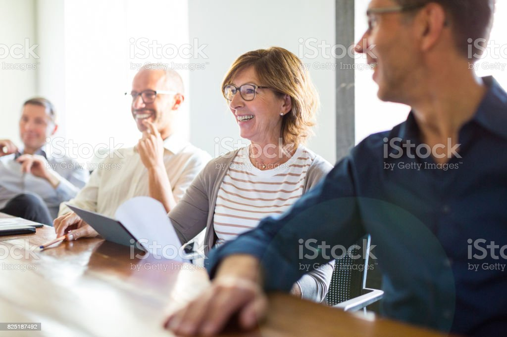 Business people during meeting in board room royalty-free stock photo