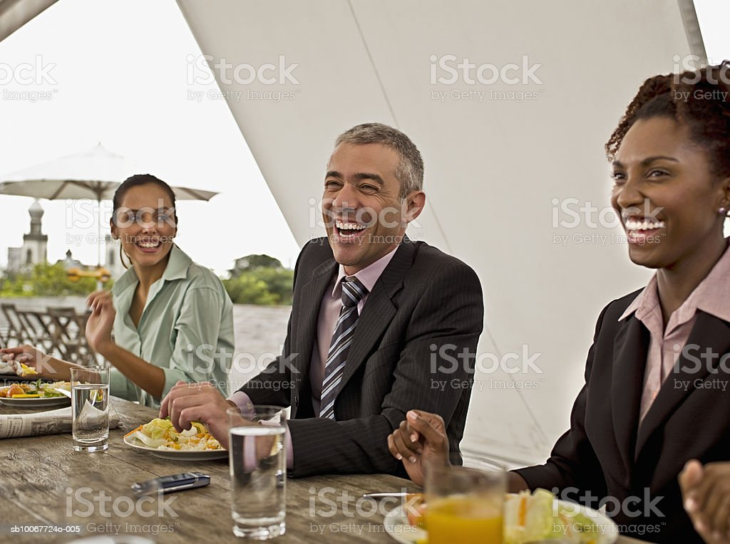 Business people eating lunch royalty-free stock photo