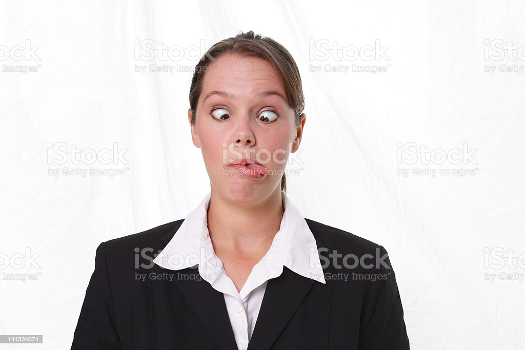 Business People & Emotions: Crazy royalty-free stock photo