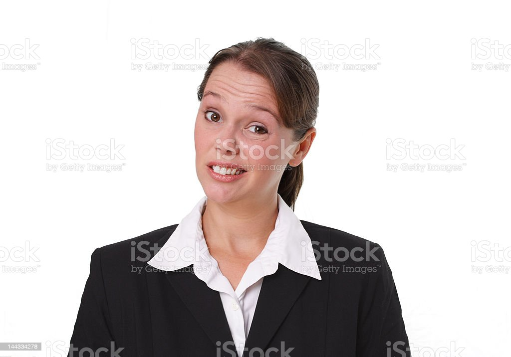 Business People & Emotions: Skeptical royalty-free stock photo