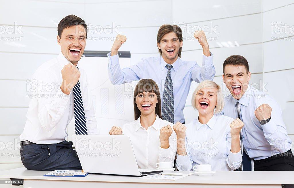 Geschäftsleute aufgeregt Erfolg Büro – Foto