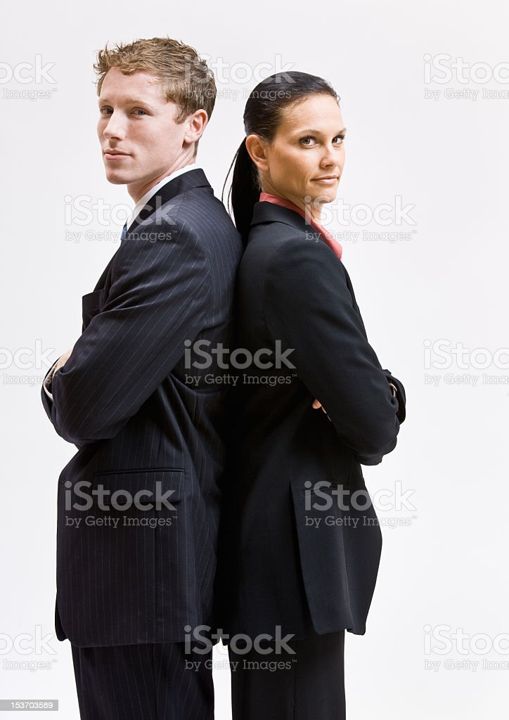 Business People Facing Away from Each Other stock photo