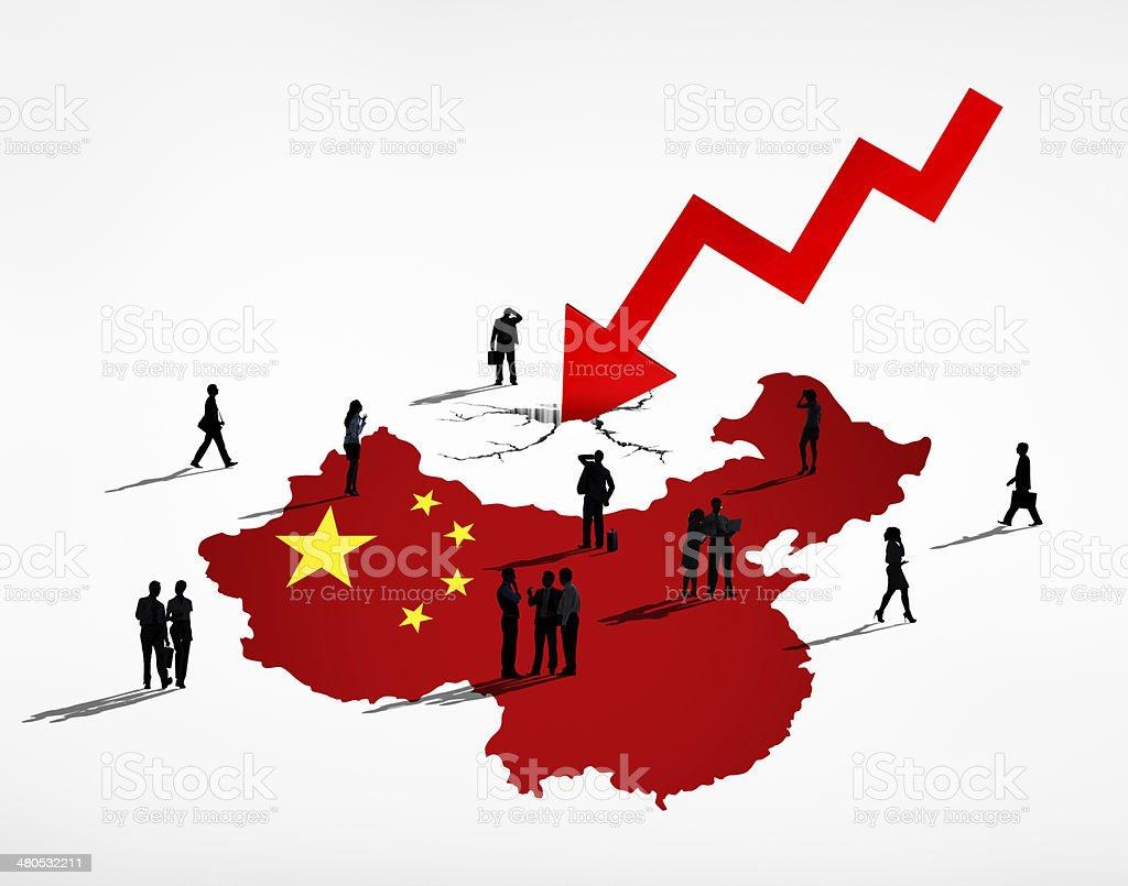 Business People Facing China Debt Crisis stock photo