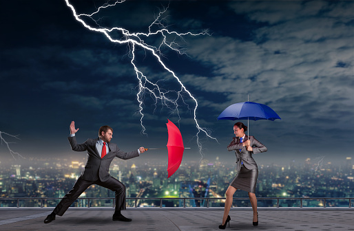 Business People Fighting Stock Photo - Download Image Now