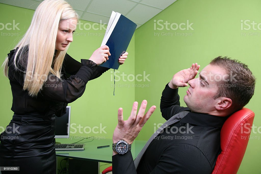 Business people fighting royalty-free stock photo