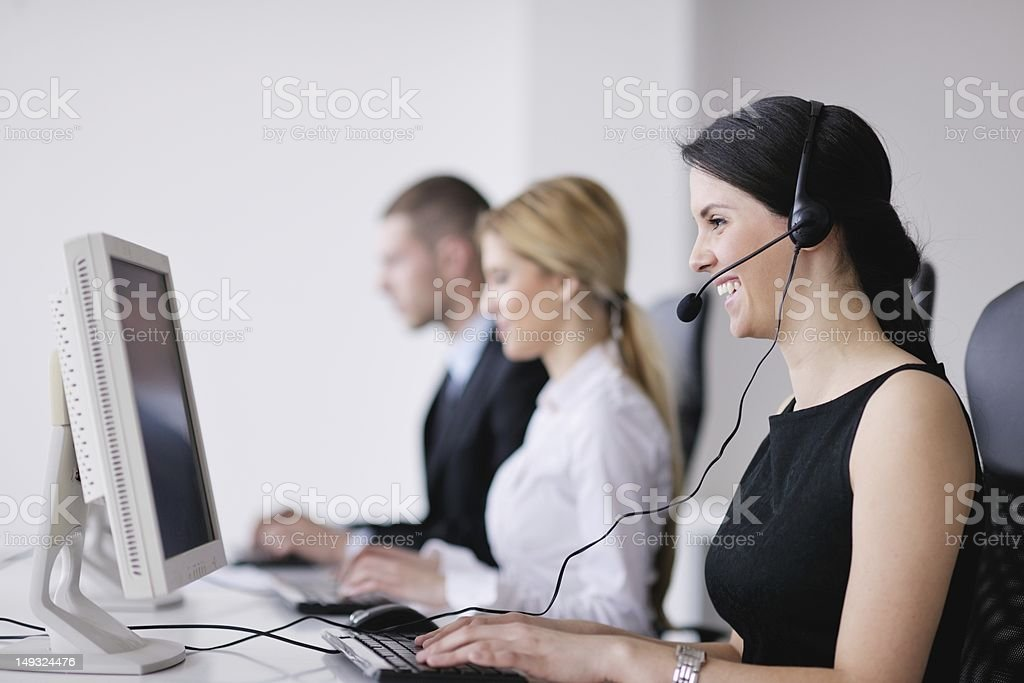 business people group working in customer and helpdesk office stock photo