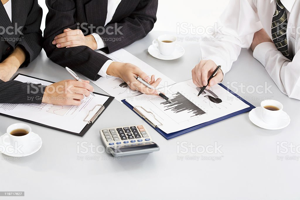 Business people hands royalty-free stock photo
