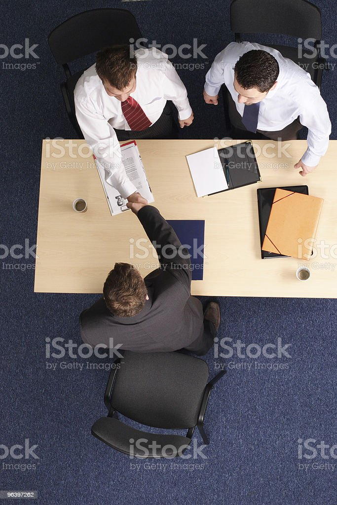 business people handshake - Royalty-free Adult Stock Photo