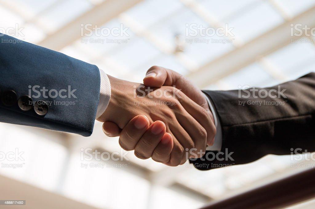 business people handshaking business people handshaking 2015 Stock Photo