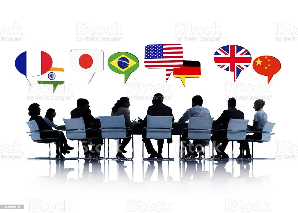 Business People Having a Conference International Relations stock photo