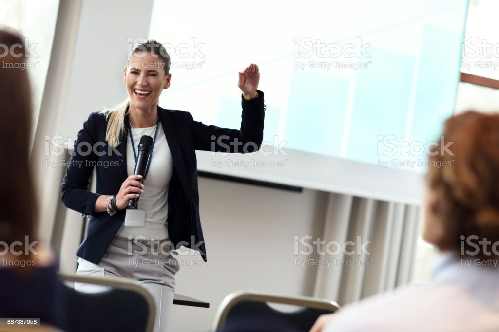 Business people having a conference stock photo