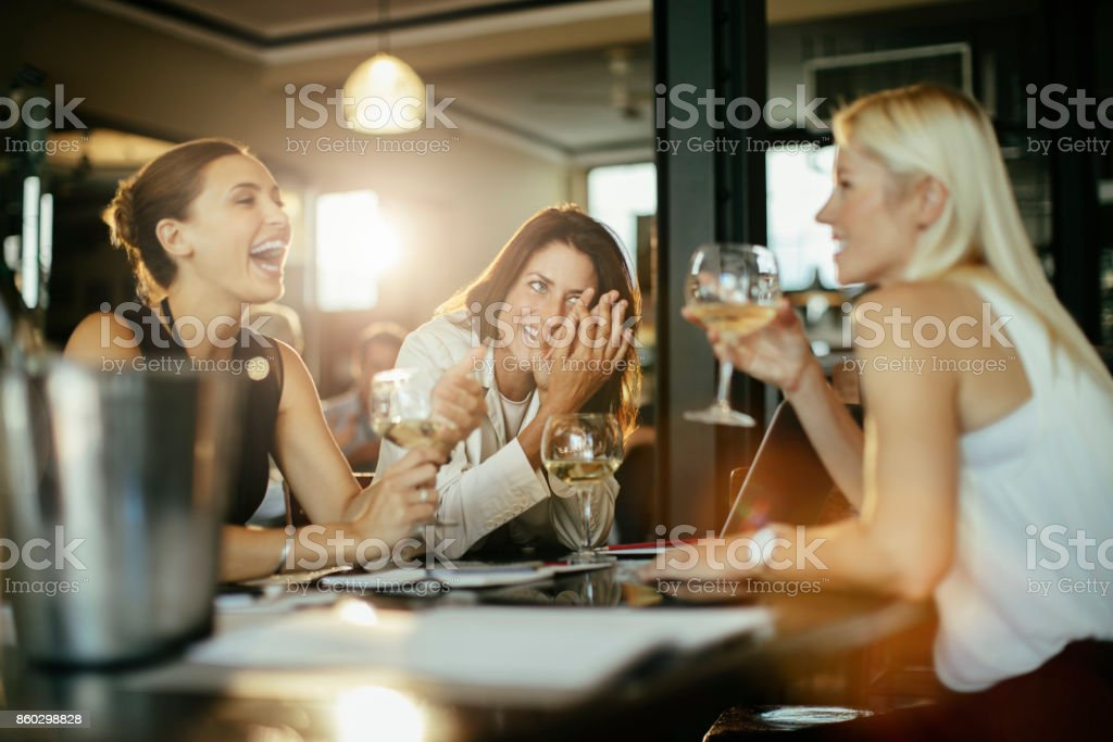 Business people having a drink stock photo