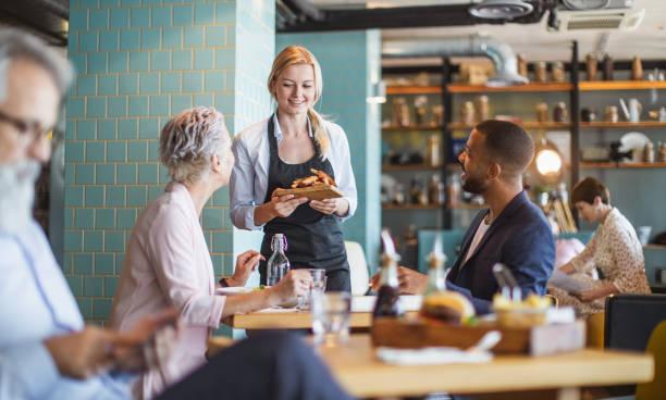 Business People Having a Lunch Break stock photo