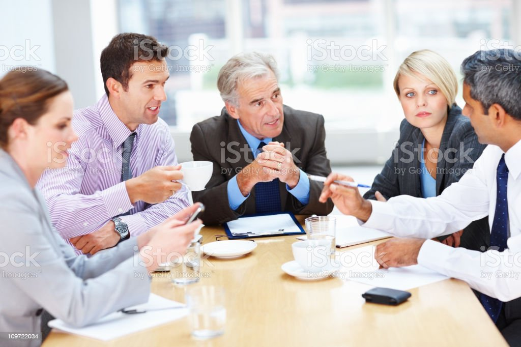 Business people having a meeting at office royalty-free stock photo