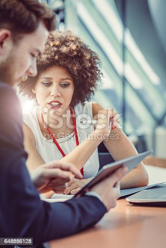 istock Business People Having a Meeting in The Board Room 648886128