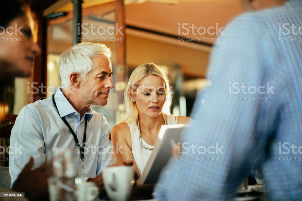 Business people having a meeting royalty-free stock photo