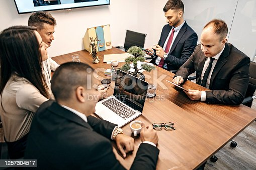 Business people having business meeting in office