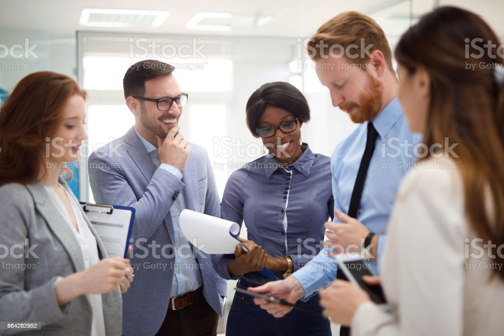 Business people having casual meeting in the office royalty-free stock photo