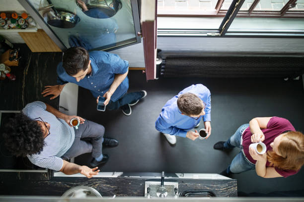 Geschäftsleute, die eine Kaffeepause haben – Foto