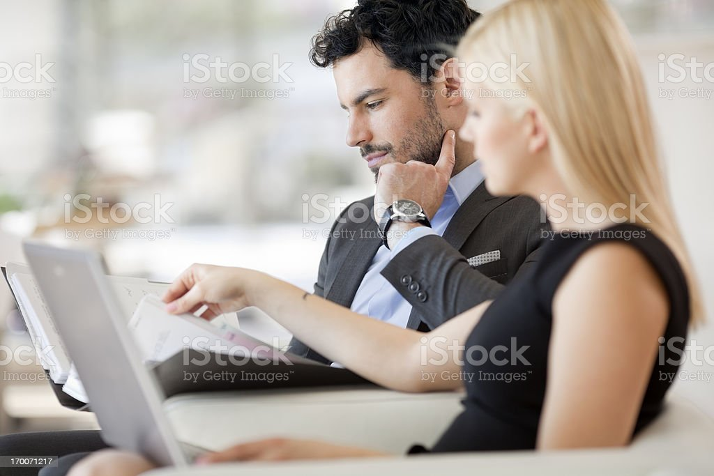 Business people having meeting in office royalty-free stock photo