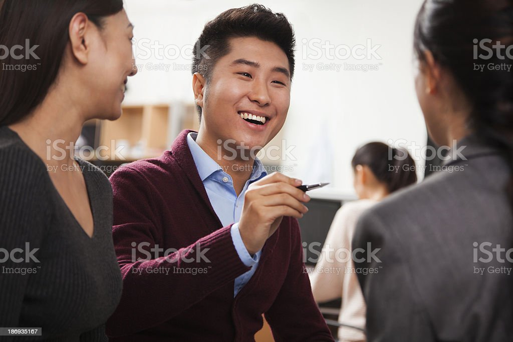 Business people having meeting in the office stock photo