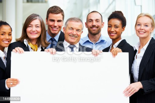 istock Business people holding a placard 144955839