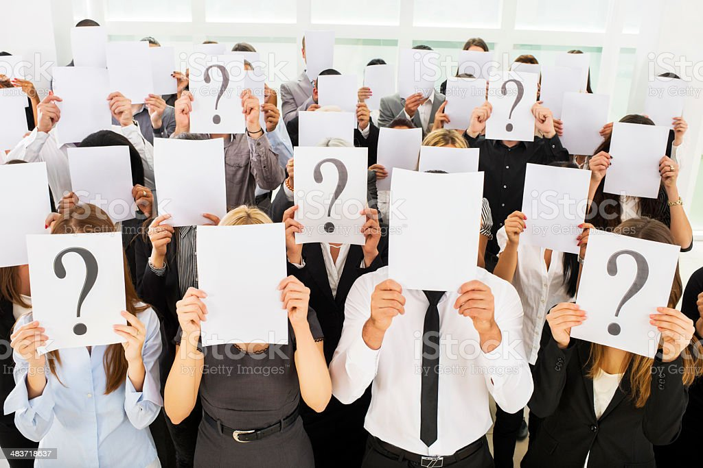 Business people holding papers. royalty-free stock photo