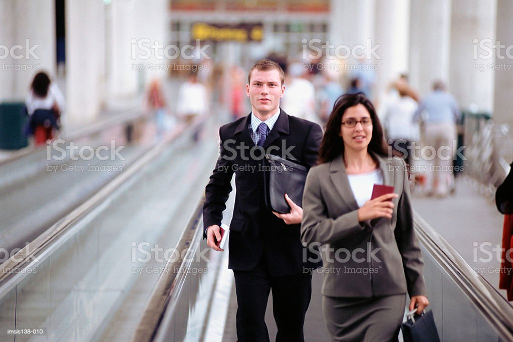 Business people hurrying Lizenzfreies stock-foto