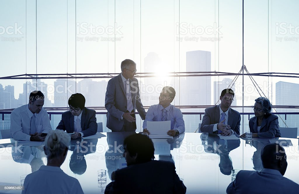 Business People in a Meeting and Working Together stock photo
