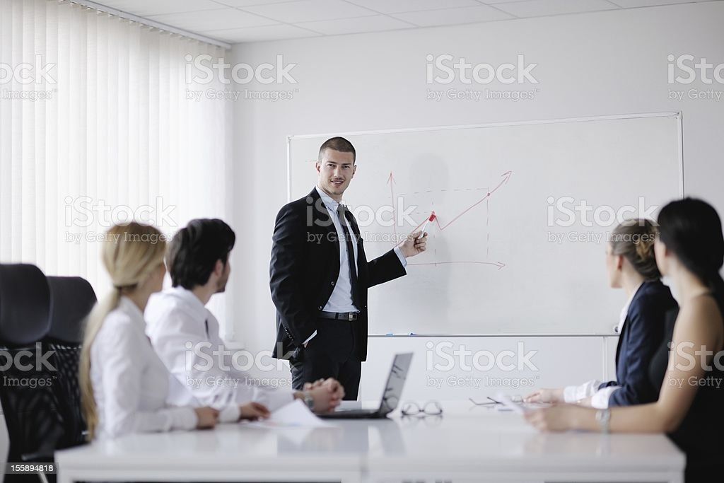 business people in a meeting at office royalty-free stock photo