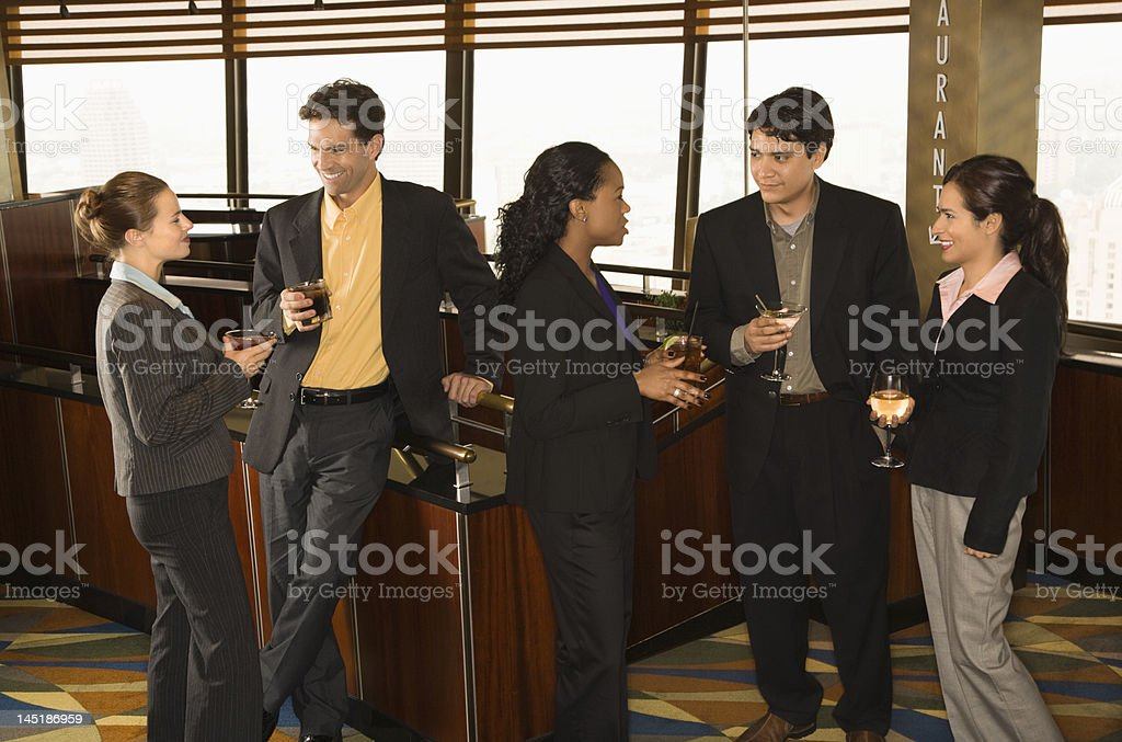 Business people in bar. royalty-free stock photo