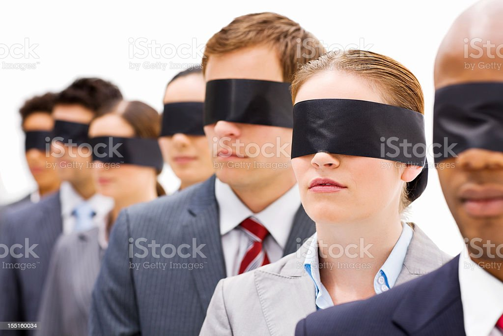 Business People in Blindfolds stock photo